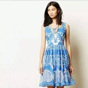 Anthropologie Tracy Reese Azure Blue White Lace